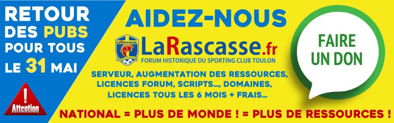 Aidez LaRascasse.fr pour la saison 2019-2020